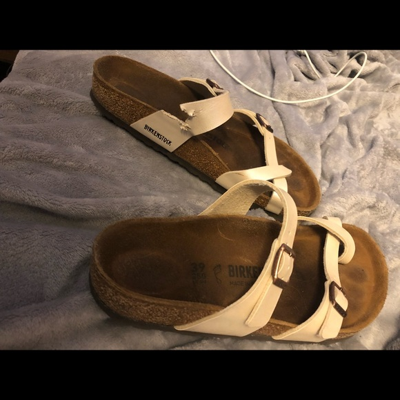 ce451bd2e66a Birkenstock Shoes - Mayari BirkoFlor Graceful White Pearl Birkenstocks